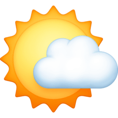 Sun Behind Small Cloud Emoji on Facebook
