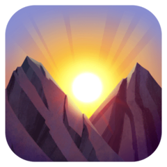 Sunrise Over Mountains Emoji on Facebook