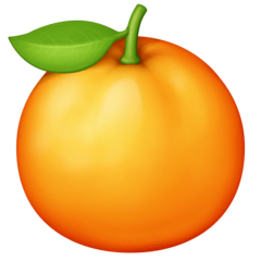 Tangerine Emoji on Facebook
