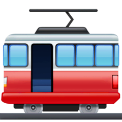 Tram Car Emoji on Facebook