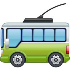 Trolleybus Emoji on Facebook