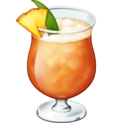 Tropical Drink Emoji on Facebook