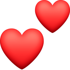 Two Hearts Emoji on Facebook