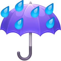 Umbrella With Rain Drops Emoji on Facebook