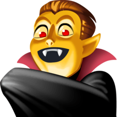 Vampire Emoji on Facebook