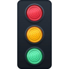 Vertical Traffic Light Emoji on Facebook