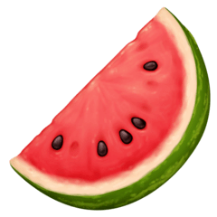 Watermelon Emoji on Facebook