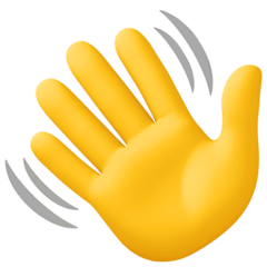 Waving Hand Emoji on Facebook