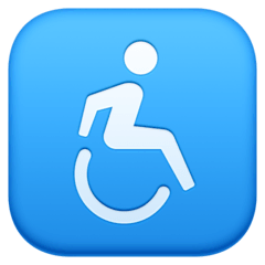 Wheelchair Symbol Emoji on Facebook