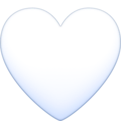 White Heart Emoji on Facebook