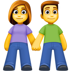 Woman And Man Holding Hands Emoji on Facebook