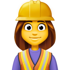 Woman Construction Worker Emoji on Facebook