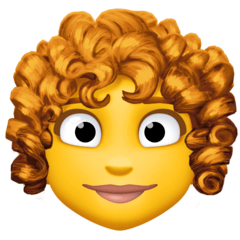 Woman, Curly Haired Emoji on Facebook