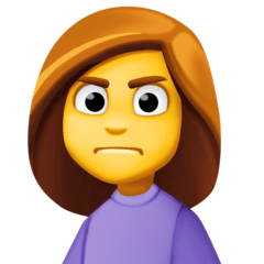 Woman Frowning Emoji on Facebook