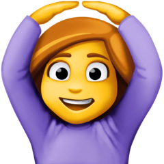 Woman Gesturing OK Emoji on Facebook