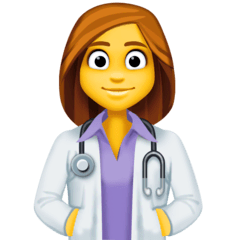 ️Woman Health Worker Emoji on Facebook