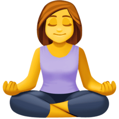 Woman In Lotus Position Emoji on Facebook