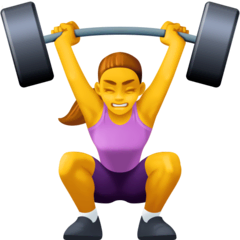 Woman Lifting Weights Emoji on Facebook