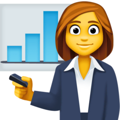 Woman Office Worker Emoji on Facebook