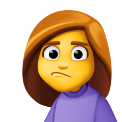 Woman Pouting Emoji on Facebook
