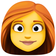 Woman, Red Haired Emoji on Facebook
