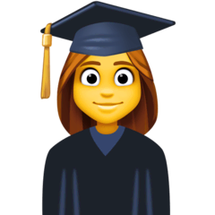 Woman Student Emoji on Facebook