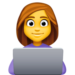 Woman Technologist Emoji on Facebook