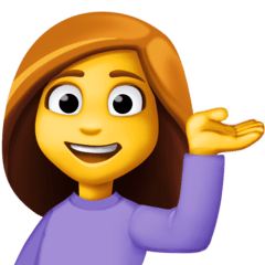 Woman Tipping Hand Emoji on Facebook
