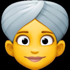 Woman Wearing Turban Emoji on Facebook