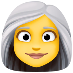 Woman, White Haired Emoji on Facebook