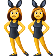 Women With Bunny Ears Emoji on Facebook