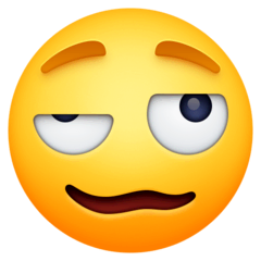 Woozy Face Emoji on Facebook