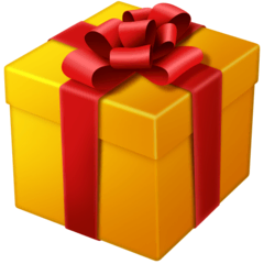 Wrapped Gift Emoji on Facebook