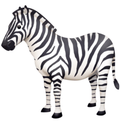 Zebra Emoji on Facebook