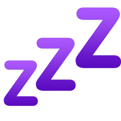 Zzz Emoji on Facebook