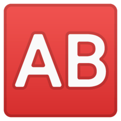AB Button (Blood Type) Emoji on Google Android and Chromebooks