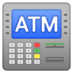 ATM Sign Emoji on Google Android and Chromebooks