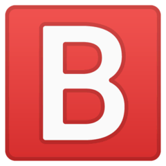 B Button (Blood Type) Emoji on Google Android and Chromebooks