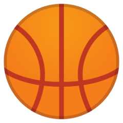 Basketball Emoji on Google Android and Chromebooks