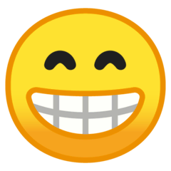 Beaming Face With Smiling Eyes Emoji on Google Android and Chromebooks