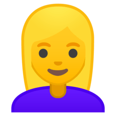 Blond-Haired Woman Emoji on Google Android and Chromebooks