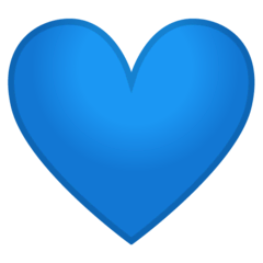 Blue Heart Emoji on Google Android and Chromebooks