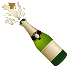 Bottle With Popping Cork Emoji on Google Android and Chromebooks