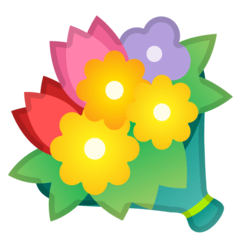 Bouquet Emoji on Google Android and Chromebooks