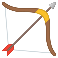 Bow And Arrow Emoji on Google Android and Chromebooks
