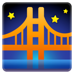 Bridge at Night Emoji on Google Android and Chromebooks