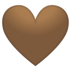 Brown Heart Emoji on Google Android and Chromebooks