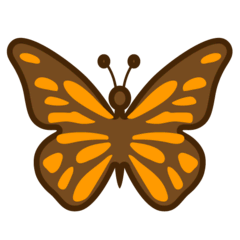 Butterfly Emoji on Google Android and Chromebooks