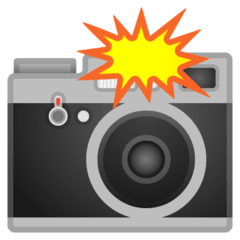 Camera With Flash Emoji on Google Android and Chromebooks