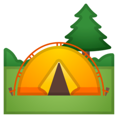 Camping Emoji on Google Android and Chromebooks